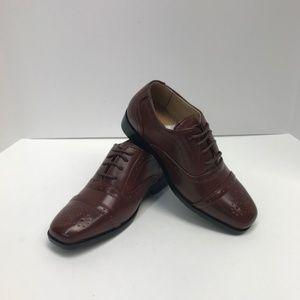 Easy Strider Dark Tan Youth Boys Dress Shoes NEW